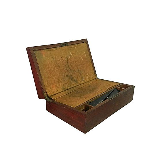 1890s Lap Desk Victorian Office Supply Portable by Nachokitty #writingdesk #victorian #writersdesk #travel #portableoffice #americanhistory #antique
