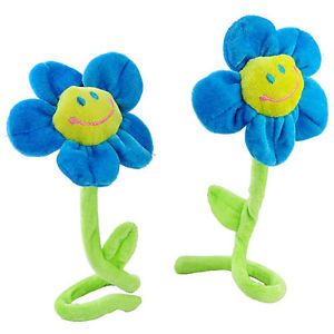Ein Paar Cartoon Home Decor Smiley Sonnenblumen Vorhang Blume - Blau