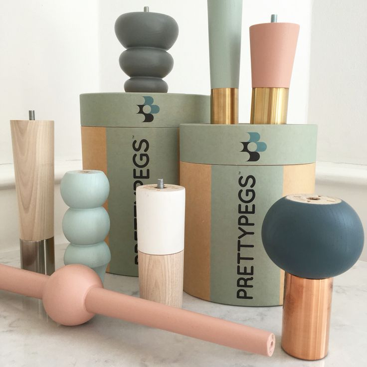 Prettypegs replaceable furniture legs for your sofa, bed, table, or storage furniture. - With lots of love for powdery pastels