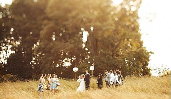 Con le ballerine verdi: Matrimonio all'aria aperta