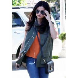 Studded Army Vest as seen on Selena Gomez - designed by Jet by John Eshaya. Price $189