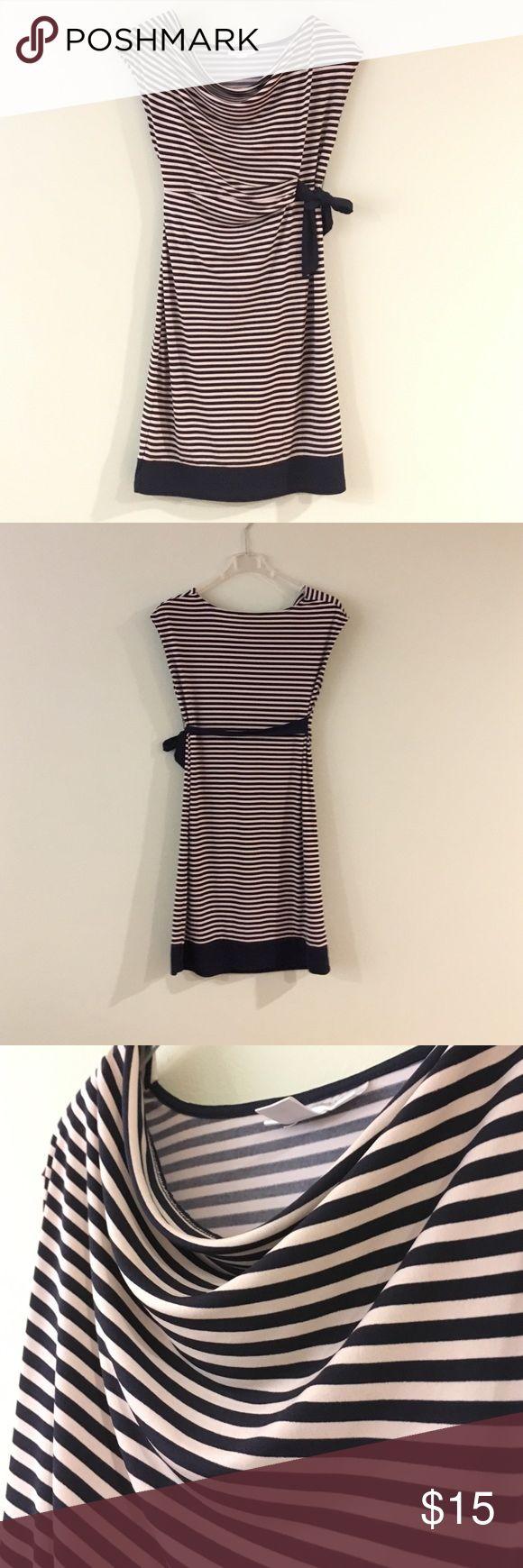 Striped maternity dress. Zebra striped maternity dress. Knee length, good condition. Motherhood Maternity Dresses Midi