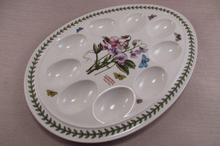 Portmeirion China BOTANIC GARDEN Oval Deviled Egg Plate - Sweet Pea #Portmeirion