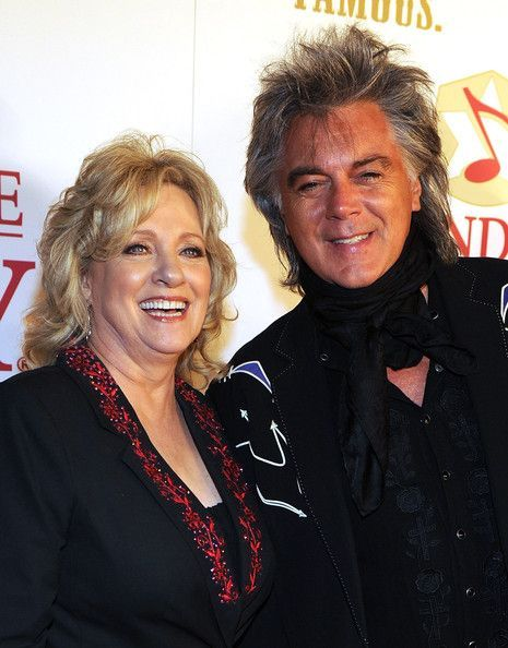 Connie Smith and Marty Stuart backstage during Country Comes Home - An Opry Celebration at the Grand Ole Opry House on September 28, 2010 in Nashville, Tennessee.