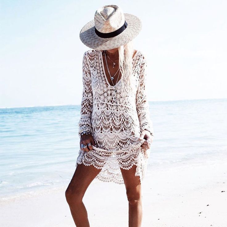 $38.26 - Awesome 2017 Beach Cover Up Deep V Women Swimsuit Flower Beach Wear Tunic Women Crochet Dress Bathing Suit saida de praia cover bikini - Buy it Now!
