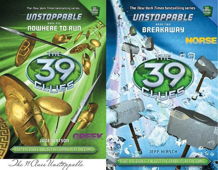 Book one and two of The 39 Clues: Unstoppable