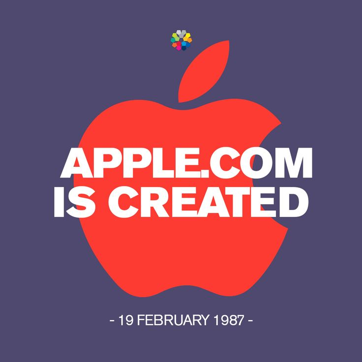 On this day in technology history, February19 1987, the Internet domain apple.com was created 4 years before the World Wide Web was launched! #apple