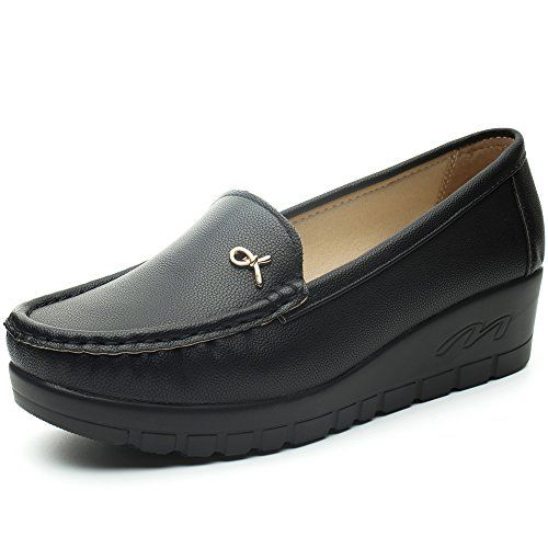 mieux aimé 53588 ae459 Cestfini Chaussures Mocassin Plat Noir des Femmes ...