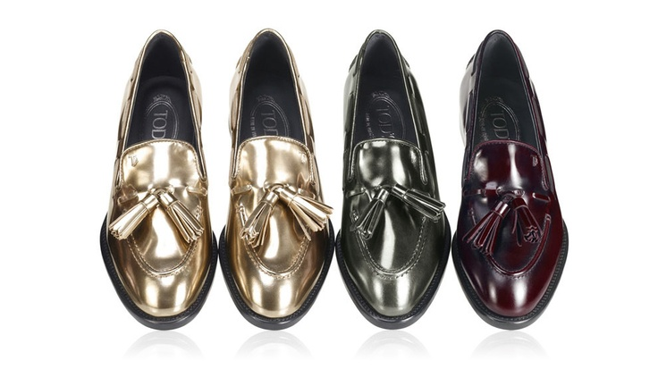 Autumn Winter Collection 2012-13.   Leather Loafers With Tassels