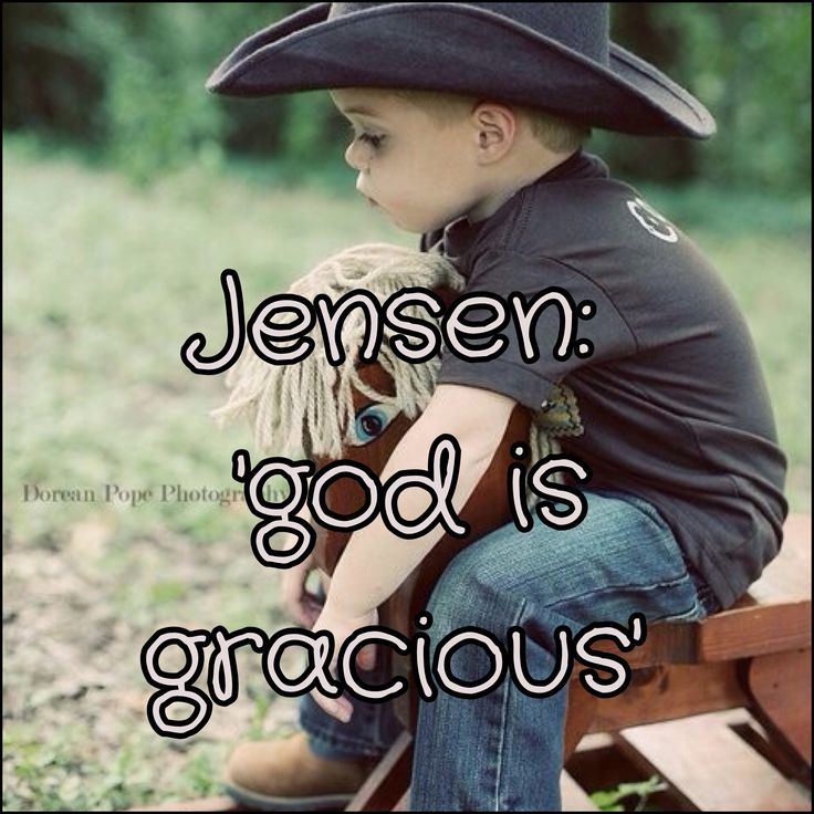 I really love this name and plan in naming a son this. Not just because one of my favorite actors is named this but also because of the meaning- 'God is gracious'. How pure is that? God is everything good. Love, mercy, grace. It's a beautifully unique name that can mean so much... So my future husband better be ready, because I will stand firm to this name.