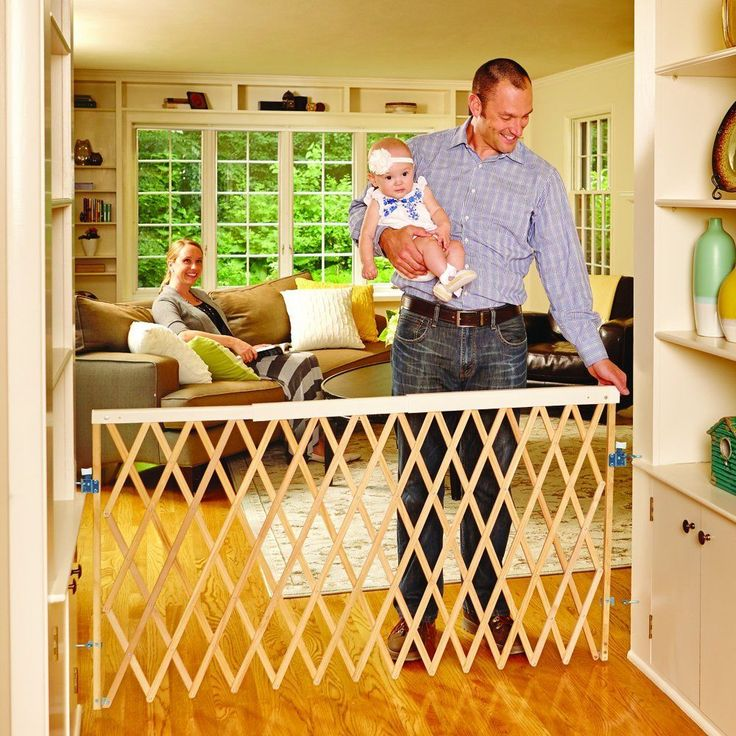 Adjusts to fit openings 24 to 60 inches wide and is 32 inches high Ideal for extra-wide openings such as between rooms or the bottom of stairs. Safety latch offers easy one-hand operation. Swings open in either direction  #Expandable #Swing #Gate #Fence #Baby #Kids #Pet #Safety #Security