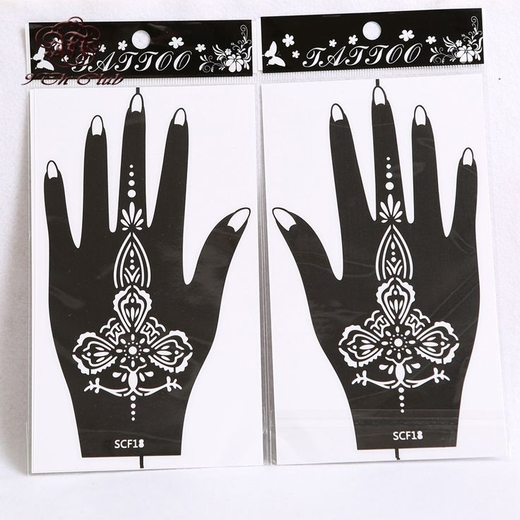 10 Pair (20pcs) Henna Hand Tattoo Stencil,Flower Glitter Airbrush Mehndi Henna Tattoo Stencils Templates For Body Paint 20*11cm