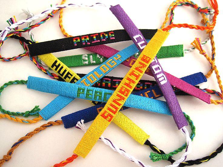 floss name bracelet | Anne's Handspun: Woven Name Bracelets