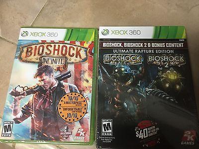 BioShock-Ultimate Rapture Edition (Microsoft Xbox 360, 2013) + BioShock Infinite