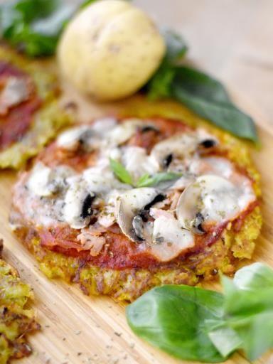Galette de pommes de terre façon pizza : Recette de Galette de pommes de terre façon pizza - Marmiton