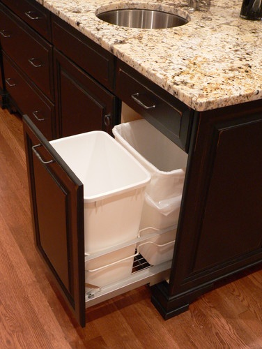 Recycle And Trash Under Sink Storage Ideas Traditional