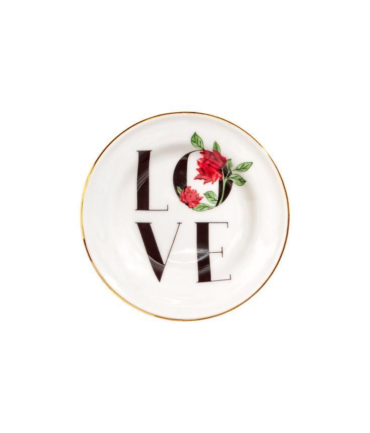 Mini Porcelain Plate | White | H&M HOME | H&M US