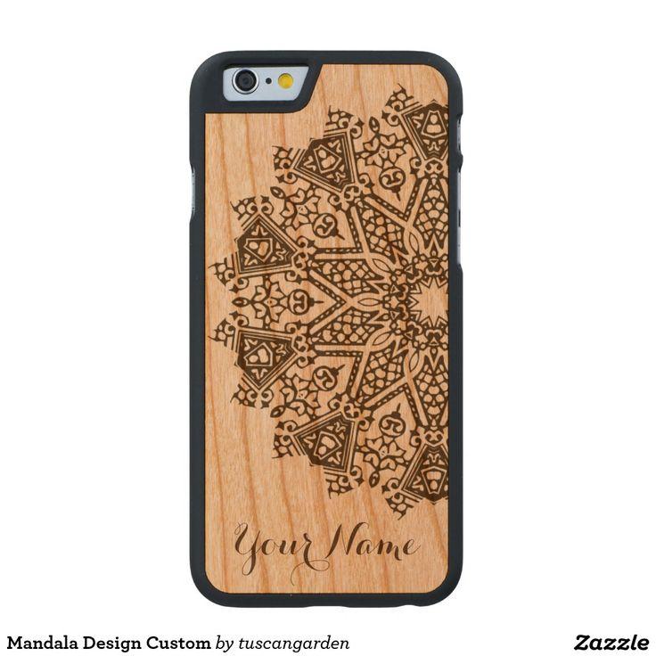 Mandala Design Custom Carved® Cherry iPhone 6 Case
