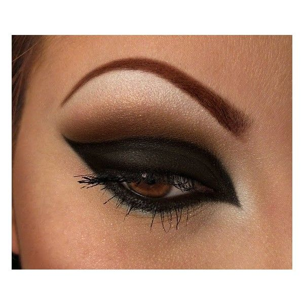 Trucco nero e marrone ❤ liked on Polyvore featuring makeup