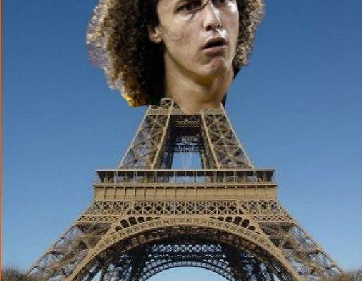 Brazylijczyk został twarzą wieży Eiffla po meczu z Barceloną • David Luiz promuje od dzisiaj dziurę pod wieżą • Zobacz mem piłkarski >> #psg #luiz #memes #football #soccer #sports #pilkanozna #funny