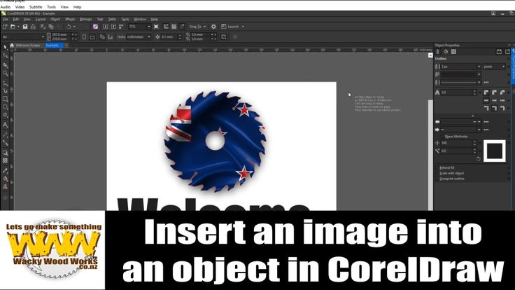 Insert picture into an object shape in CorelDRAW - Off the Cuff - Wacky ...