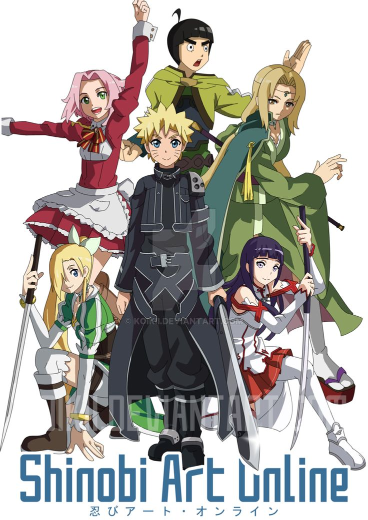 SAO ~Shinobi Art Online~ I have been waiting for a picture like this for a long time now lol!