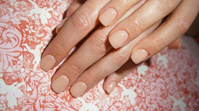 """Gel extention with color """"bubble gum frosting""""."""