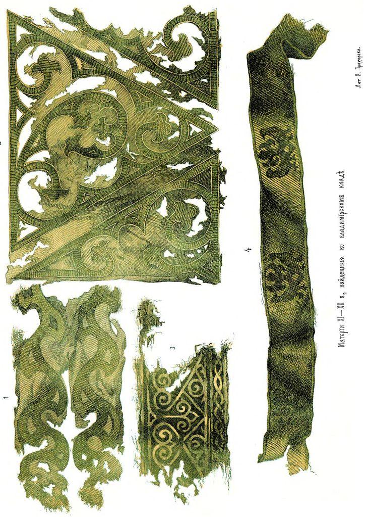"Extant Embroidery from ""Materiali po Istorii Ruskih Odejd"", V. Prohorov"