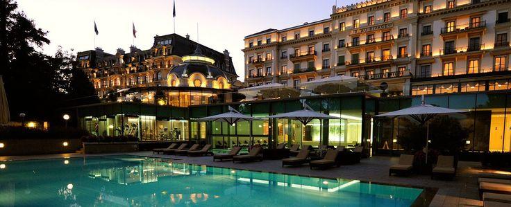 Aaaah, le Beau-Rivage Palace à Lausanne. Luxe et volupté.