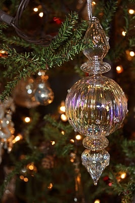 Handblown glass ornament -- I have some of these! Just beautiful on the tree.