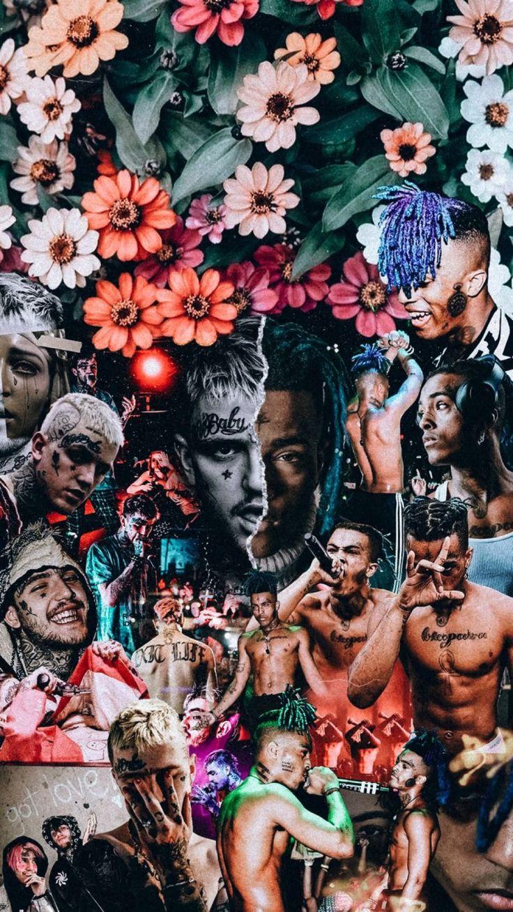 Rapper Wallpaper Iphone, Rap Wallpaper, Tumblr Wallpaper, Wallpaper Downloads, Wallpaper Backgrounds, Wallpapers Android, Live Wallpapers, Lil Peep Live, Lil Peep Beamerboy