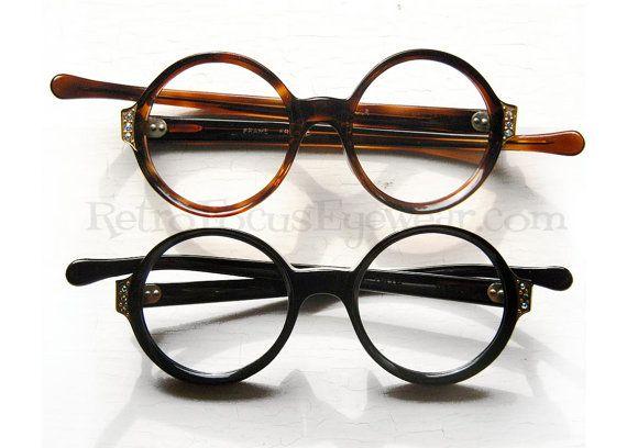 French Rhinestone Eyeglass Frames Vintage 1960s Eyewear ...