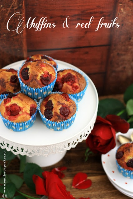 Red fruits muffins - Emily's cupcakes