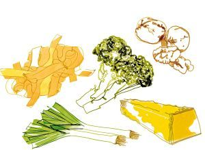Portulak-Salat mit gebratenem Zander
