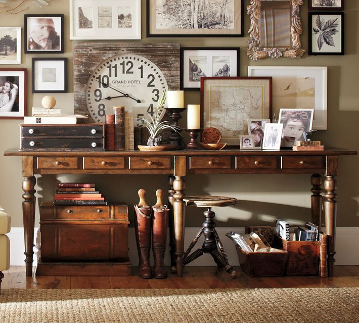 Awesome vintage gallery wall and pottery barn tivoli - Interior designer discount pottery barn ...