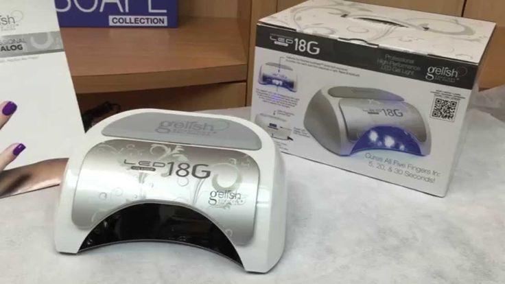 Gelish  5 45 v 18G LED Light. LED light comparison video