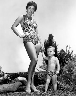 Elizabeth Taylor, with son Michael Wilding, Jr.