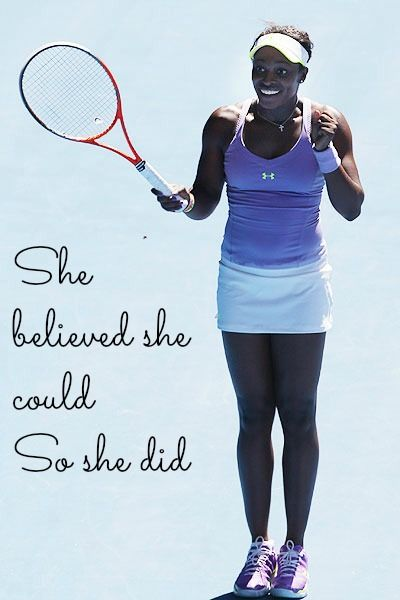 Sloane Stephens proving anything is possible! #tennis #ausopen  www.australianopen.com