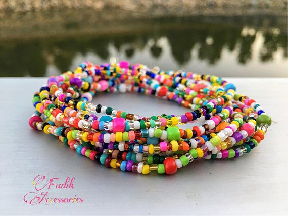 This Long Wrap Necklace Is Made Of Glass Seed Beads The Necklace You See In The Photo Hacer Pulseras Bisuteria Bisuteria Y Complementos Pulseras Artesanales