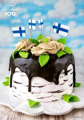 Kakku Suomen kesälle kuuluu Suomi 100 -leivonnaissarjani teemaresepteihin. Jatkan täytekakussa juhannusrullan hengessä eli makuna on sitruuna-lakritsi ja koristelun aiheena on kansallispuumme koivu.