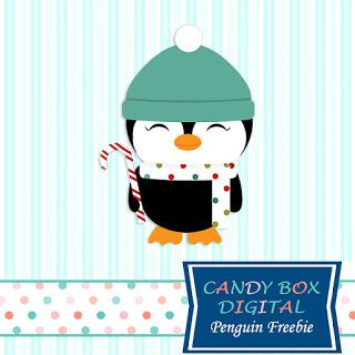 What's in the Candy Box: ***NEW CHRISTMAS PENGUIN FREEBIE*** clip art for scrapbooks, journals, newsletters, blogs and web design. From our Candy Box Digital Blog