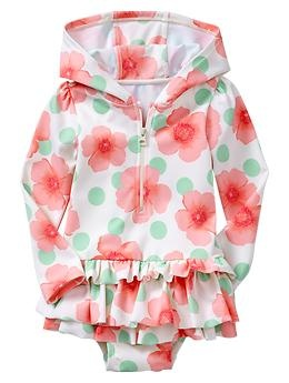 Ordered this for Caroline this morning. Long-sleeve floral rashguard   Gap