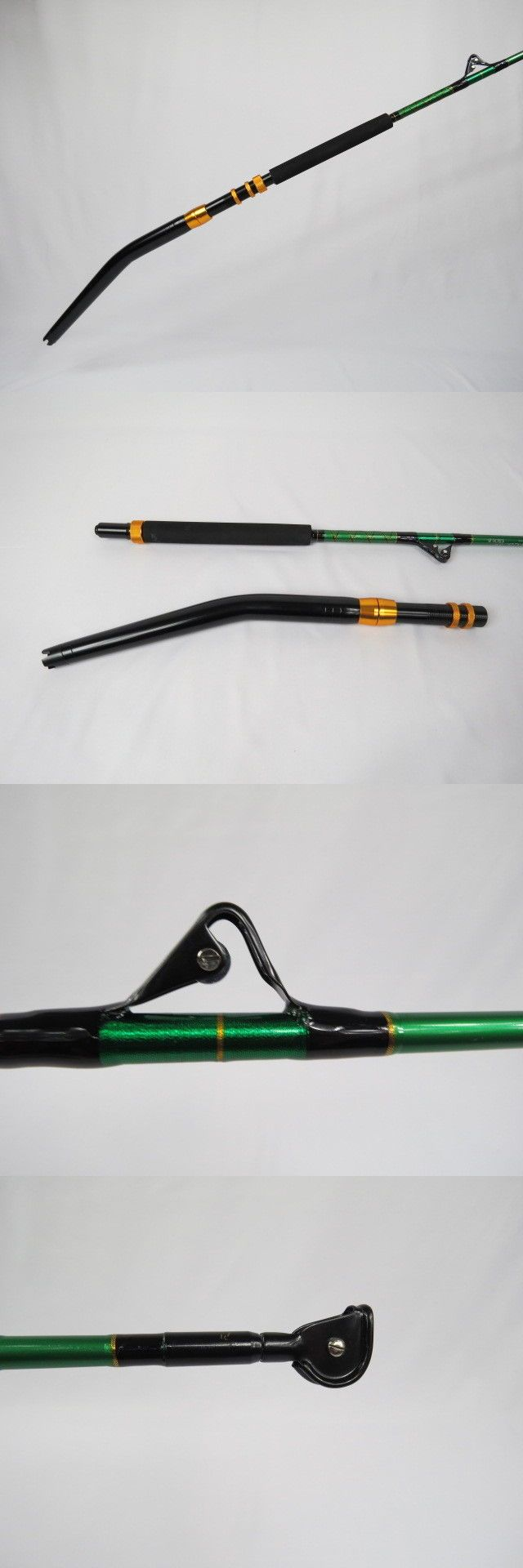 Saltwater Rods 179948: Coastal Rods - 130Lb Bent Butt Saltwater Boat Trolling Roller - Fishing Rod BUY IT NOW ONLY: $85.0