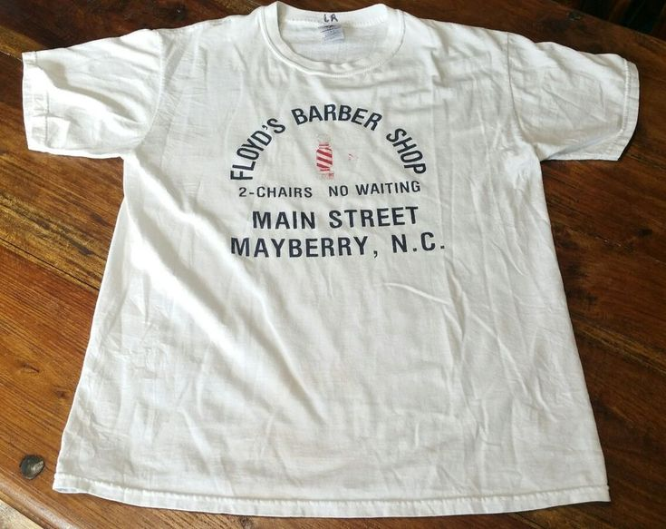 Floyd's Barber Shop 2-Chairs No Waiting Mayberry NC T-Shirt tee shirt Men Large #JERZEES #GraphicTee