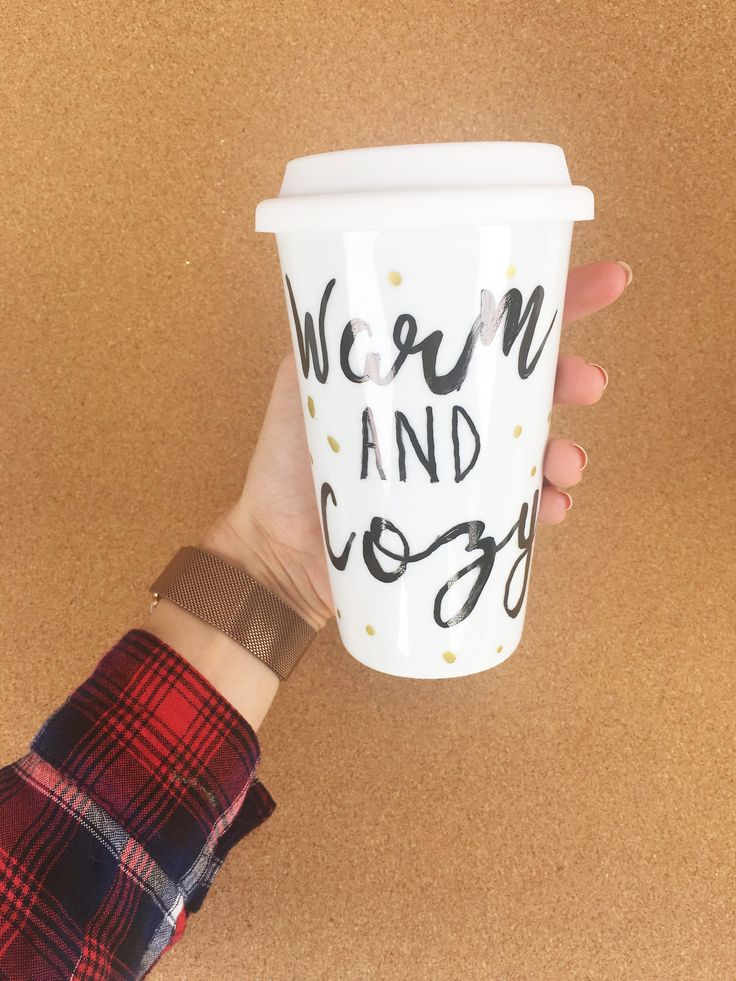 All You Need Is a Sharpie to DIY These Adorable Fall Travel Mugs