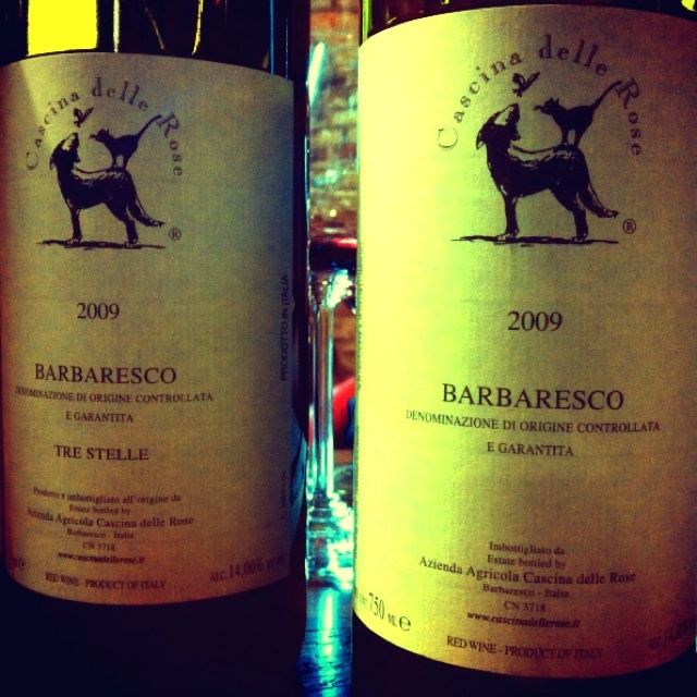 Cascina delle Rose - Barbaresco cru Tre Stelle 2009 and Barbaresco normal 2009 (the best one)