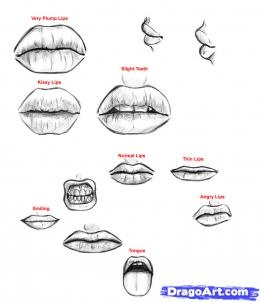 how to draw a male mouth