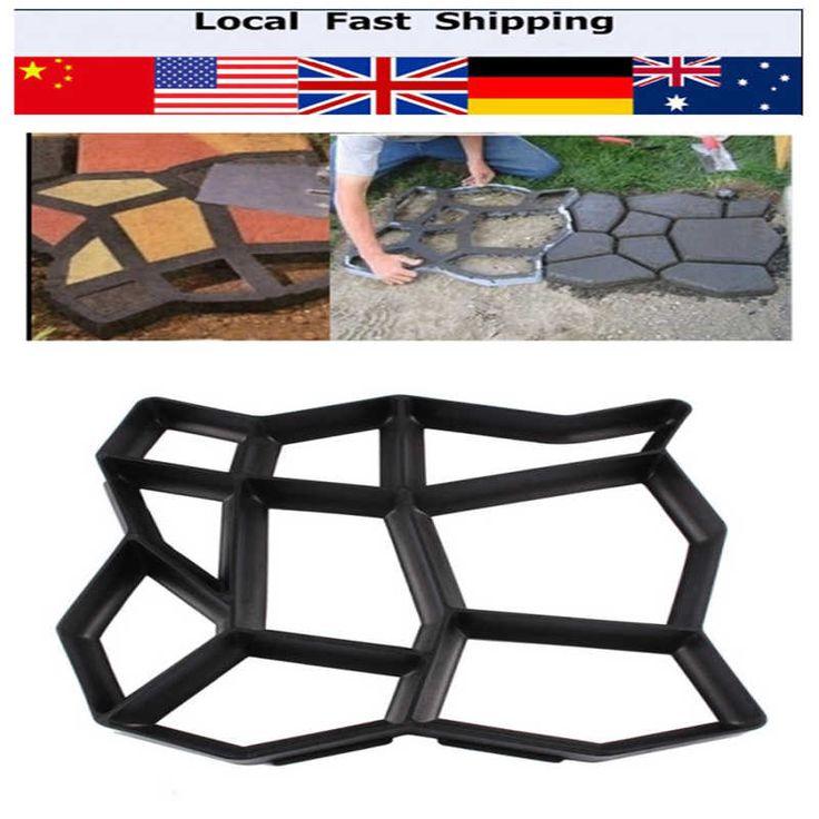 Diy lastre di pavimentazione muffa vialetto pavimentazione in mattoni patio moldes para concreto percorso pathmate giardino di pietra passeggiata maker mould