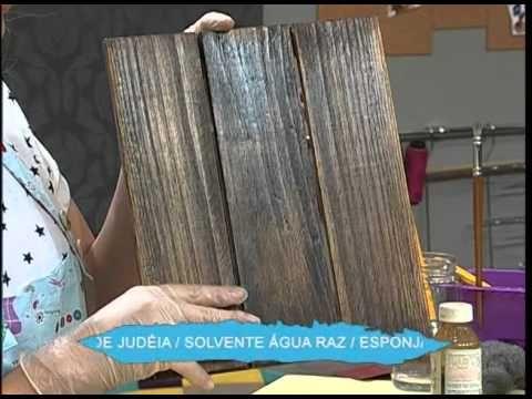 Pátina Desgastada com efeito de ferro e pintura Country parte 01 - YouTube