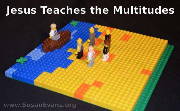 Jesus Teaches the Multitudes (LEGO) - http://susanevans.org/blog/jesus-teaches-the-multitudes-lego/